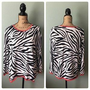 Alfred Dunner size XL zebra top!